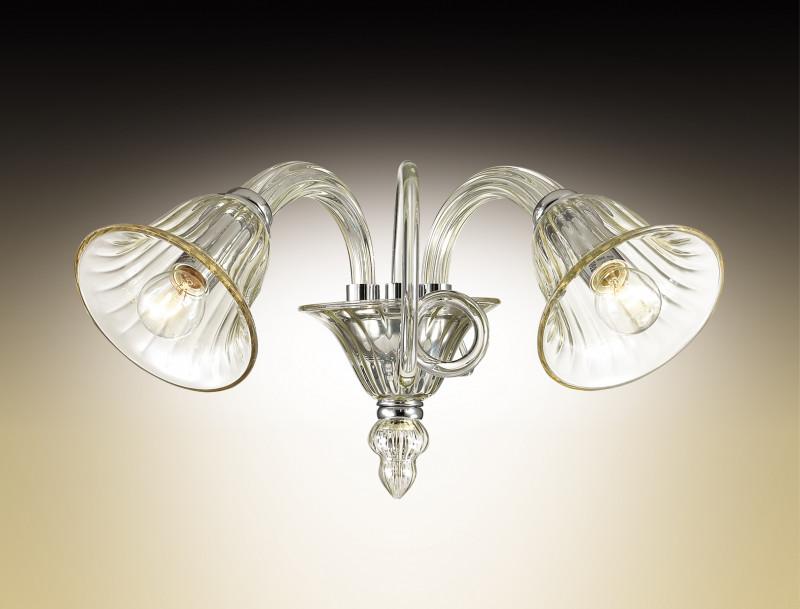Odeon Light 2939/2W ODL16 135 хром/бежевое стекло в стиле Murano Бра E14 2*40W 220V KEPTIN потолочная люстра odeon light keptin 2939 6c
