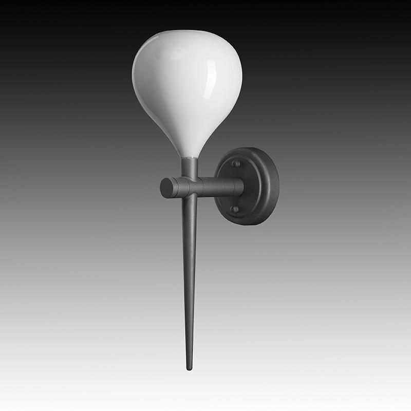 Lightstar 808650 (MВ2128-1W) Бра FORMA 1х40W E14  БЕЛЫЙ/ЧЕРНЫЙ ХРОМ, шт