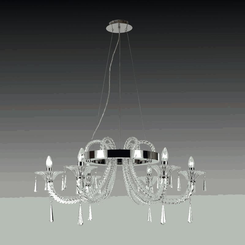 Lightstar 821060 (MD52222-6A) Люстра CORNO подв. 6х40W E14 ХРОМ, шт lightstar 804020 mc8114 6 люстра lobo 6х40w g9 стекло матовое шт