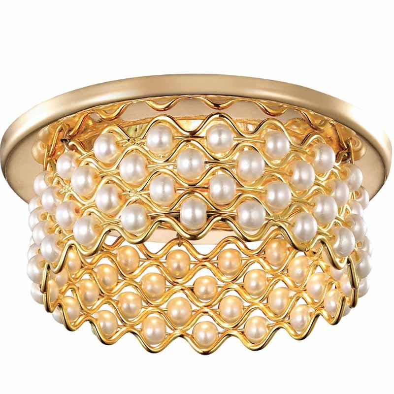 Novotech 369891 NT14 184 золото Встраиваемый светильник IP20 GU5.3 50W 12V PEARL встраиваемый светильник novotech pearl round 369441