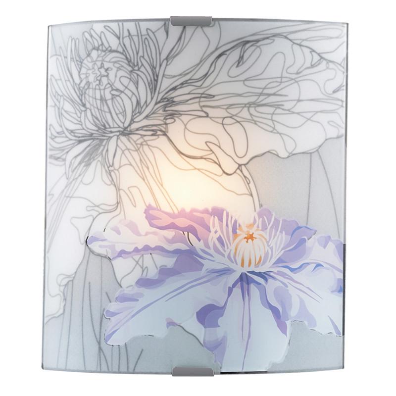 Sonex 1230/A SN14 084 никель/белый/фиолетов Бра E27 60W 220V IRIS sonex 1230 sn14 084 никель белый фиолетов потолочн e27 60w 220v iris