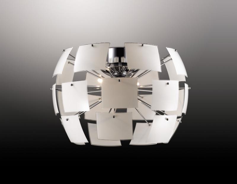 Odeon Light 2655/4C ODL14 371 хром/белый Люстра потолочная G9 4*40W 220V Vorm люстра odeon light 2655 4c