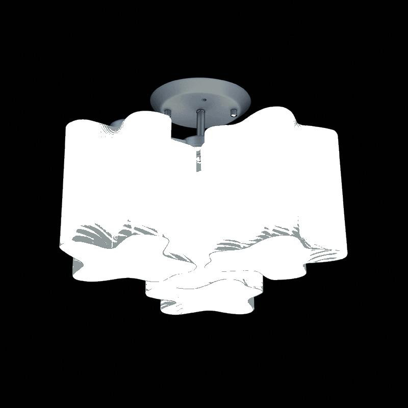 Lightstar 802031 (MC998-3A) Люстра NUBI ONDOSO 3х40W E27 ХРОМ/БЕЛЫЙ ПОЛОСАТЫЙ, шт lightstar 801040 md680 3 2кор люстра meringe 3х40w e27 хром белый шт