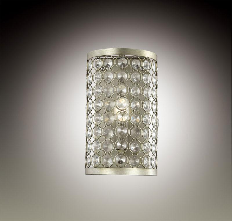 Odeon Light 2897/1W ODL16 133 серебристый/хрусталь Бра E14 40W 220V SORAS odeon light 2911 3w odl16 137 хром янтарное стекло декор хрусталь бра e14 3 40w 220v alvada