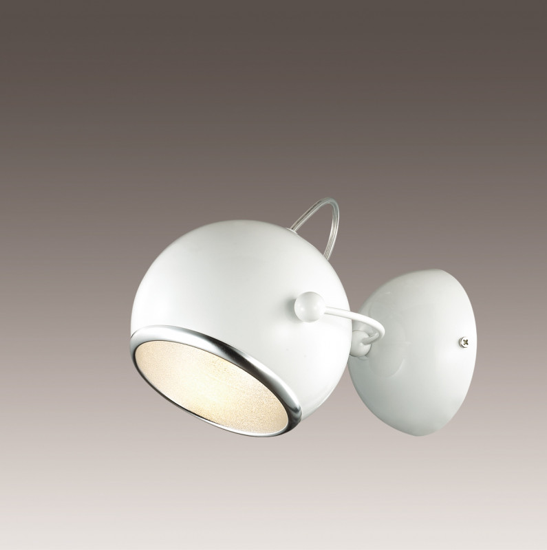 Odeon Light 2903/1W ODL16 113 белый глянцевый/металл Бра E27 60W 220V BULA бра odeon light bula 2903 1w