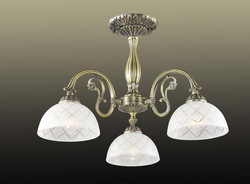 Odeon Light 2945/3C ODL16 081 бронзовый/стекло Люстра потолочная E27 3*60W 220V EMERIL