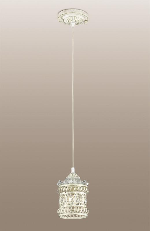 Odeon Light 2837/1 ODL16 155 белый/зол.патина /декор хрусталь Подвес E14 40W 220V ZAFRAN odeon light потолочная люстра odeon light zafran 2837 6c