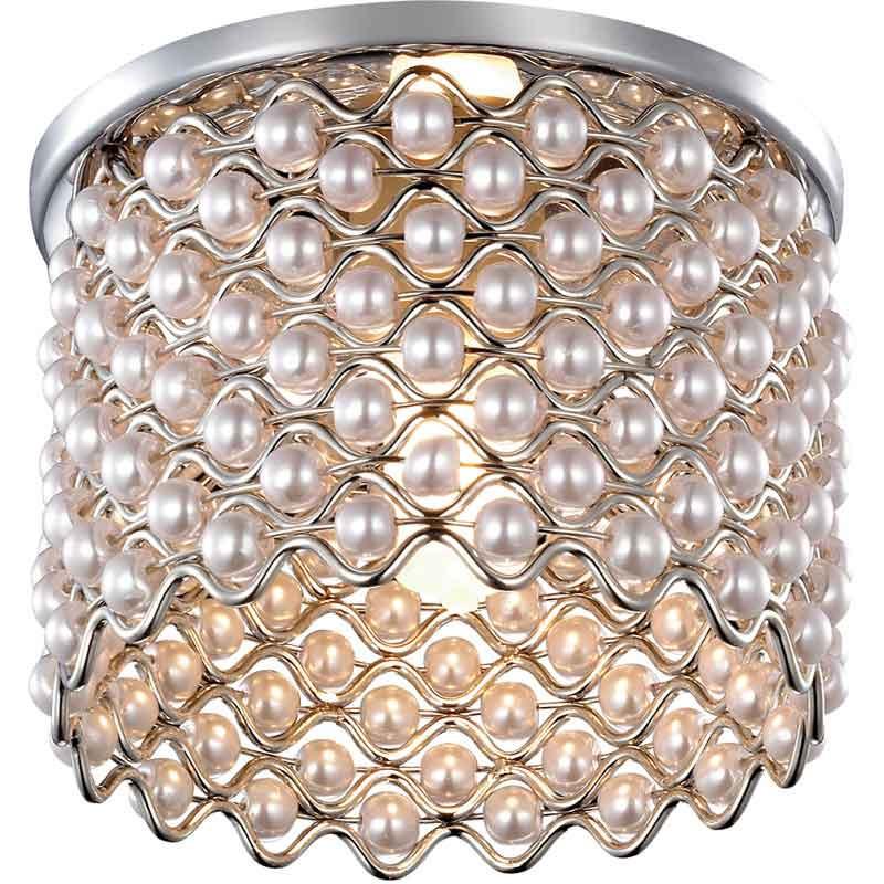 Novotech 369888 NT14 184 хром Встраиваемый светильник IP20 G9 40W 220V PEARL встраиваемый светильник novotech pearl round 369441