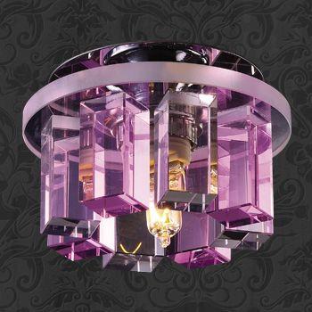 Novotech 369354 NT09 218 хром/прозрачно-розовый Встраиваемый светильник IP20 G9 40W 220V CARAMEL 3 встраиваемый светильник novotech caramel 369354