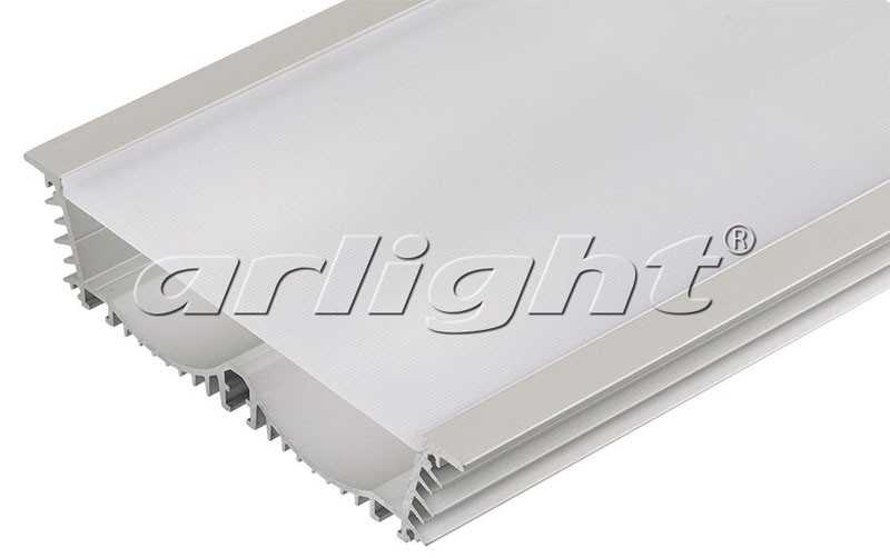 Arlight Профиль с экраном 2 метра ALU-POWER-RW116F-2000 ANOD+FROST arlight профиль с экраном 2 метра alu stair d 2000 anod frost