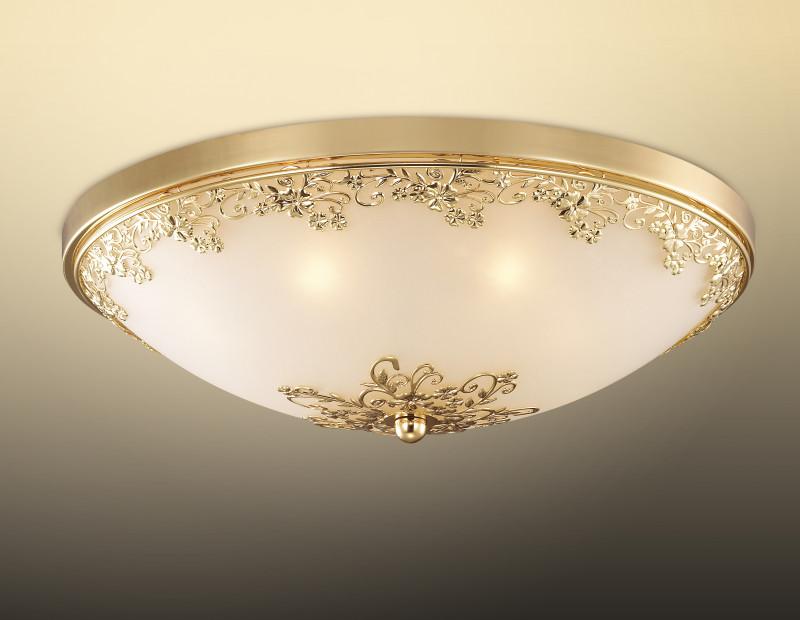 Odeon Light 2676/7C ODL14 510 золото/белый Н/п светильник  G9 7*40W 220V Alesia светильник настенно потолочный odeon light 2676 5c