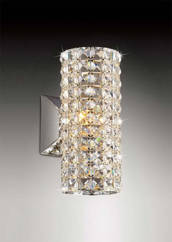 Odeon Light 2607/1W ODL14 648 хром/стекло/хрусталь Бра G9 40W 220V Malinesa odeon light 2217 3w odl12 815 хром хрусталь подсветка с выкл g9 3 40w 220v loden