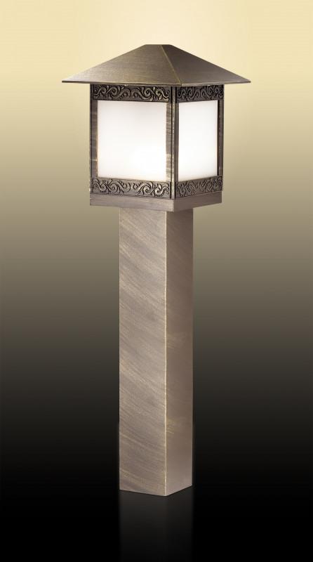 Odeon Light 2644/1A ODL14 927 коричн/пластик антивандальный Уличный светильник на столбе H=80см IP44 E27 60W 220