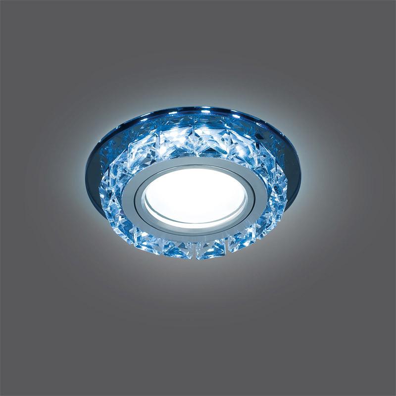 Gauss Светильник Gauss Backlight BL042 Кругл. Черный/Кристалл/Хром, Gu5.3, LED 4100K 1/40 gauss светильник gauss backlight bl070 круг гран черный серебро хром gu5 3 led 4100k 1 40