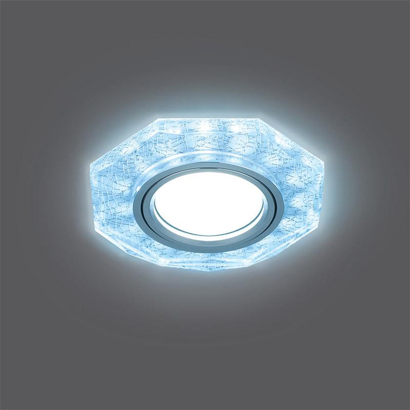 Gauss Светильник Gauss Backlight BL066 Восемь гран. Белый/Серебро/Хром, Gu5.3, LED 4100K 1/40 gauss светильник gauss backlight bl070 круг гран черный серебро хром gu5 3 led 4100k 1 40