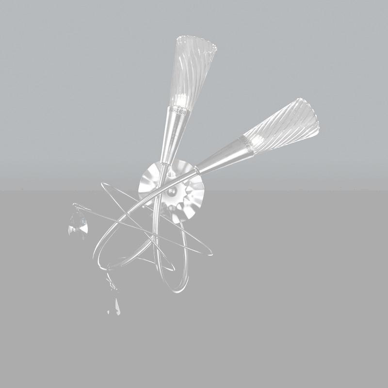 Lightstar 711639*** (SB1105/2R) Бра AEREO 2х25W G9 Silver foil, шт