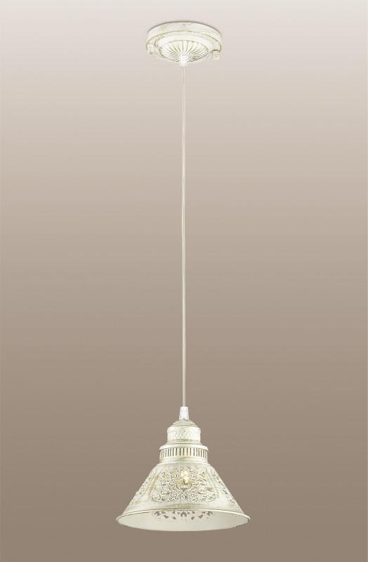 Odeon Light 2844/1 ODL16 153 белый/зол.патина /декор хрусталь Подвес E14 40W 220V KAMUN люстра на штанге odeon light kamun 2844 5c