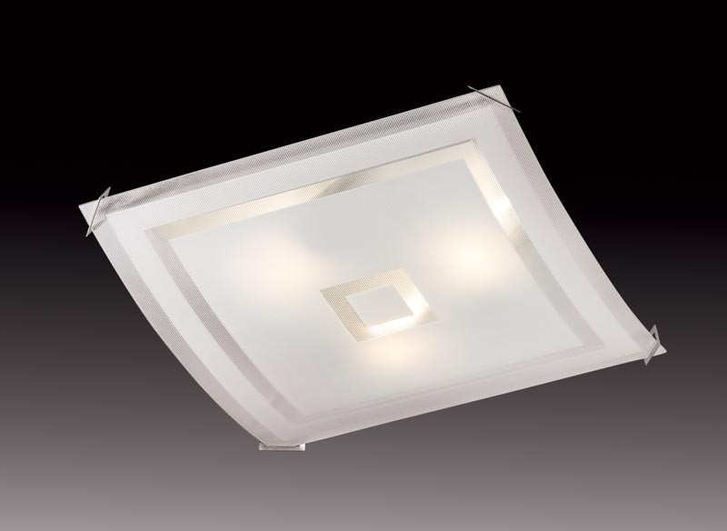 Sonex 3120 FBK06 091 белый/хром Потолочный светильник E27 3*60W 220V CUBE