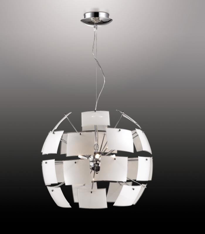 Odeon Light 2655/6 ODL14 370 хром/белый Люстра G9 6*40W 220V Vorm подсветка для картин odeon light 2590 3w odl14 709 g9 3 33w 220v akra хром пластик белый