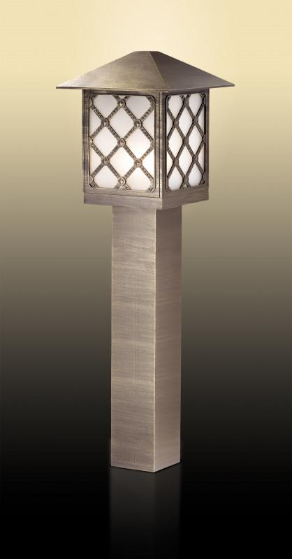 Odeon Light 2649/1A ODL14 929 коричн/пластик антивандальный Уличный светильник на столбе H=80см IP44 E27 60W 220