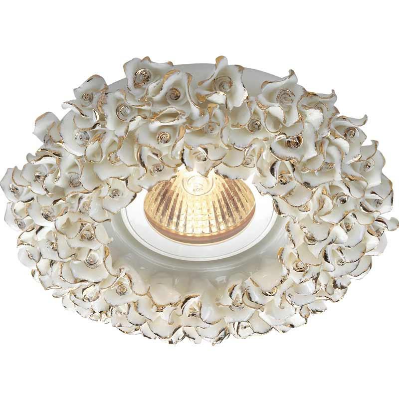Novotech 369949 NT14 156 белый/золото Встраиваемый светильник IP20 GU5.3 50W 12V FARFOR светильник 369949 farfor novotech 927372