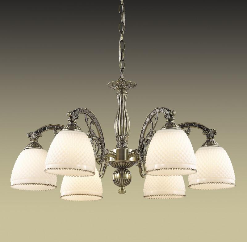Odeon Light 2868/6 ODL16 082 бронзовый/стекло Люстра Е27 6*40W 220V MASALA do 082 6 домовой никифор омон мал