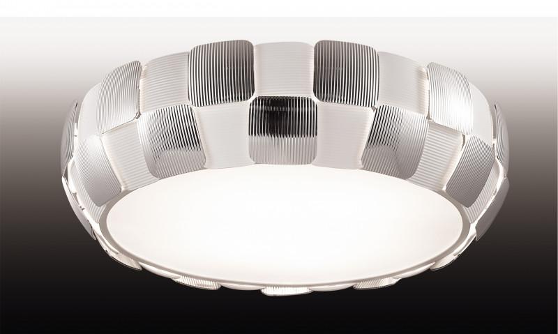 Odeon Light 2860/6C ODL16 123 белый/хром/пластик  Люстра потолочная Е27 6*24W 220V RALIS
