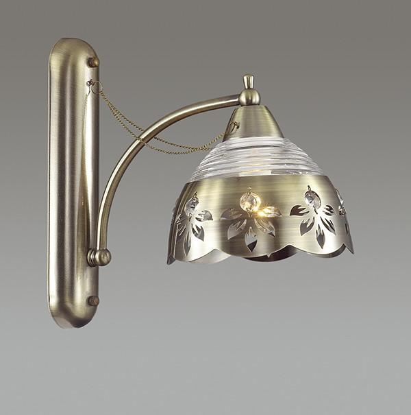 Odeon Light 3133/1W ODL16 029 бронзовый/стекло/декор.цепочки Бра E14 40W 220V ALADA бра odeon light alada 3133 1w