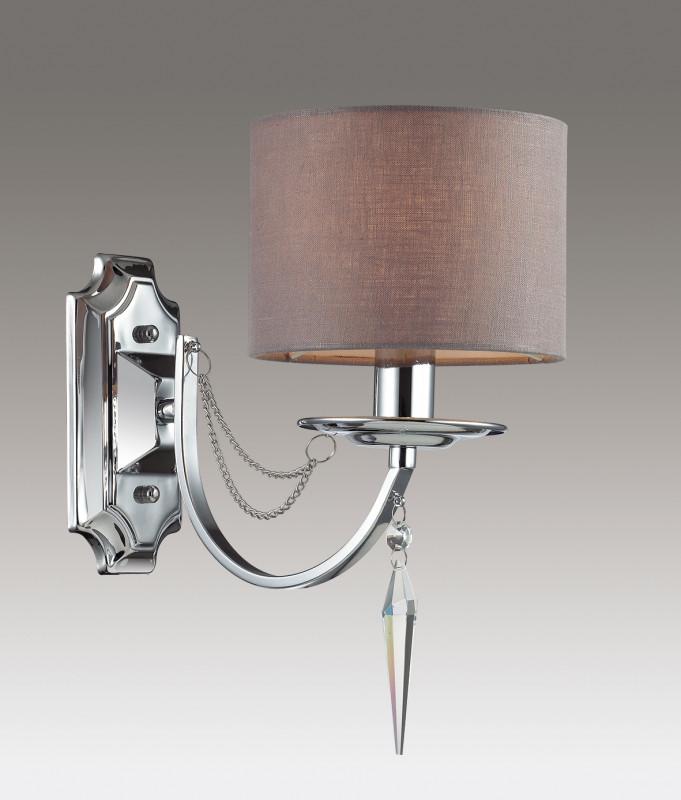 Odeon Light 3210/1W ODL16 039 хром/ткань/хрусталь/цепочки Бра E14 40W 220V OFELIA