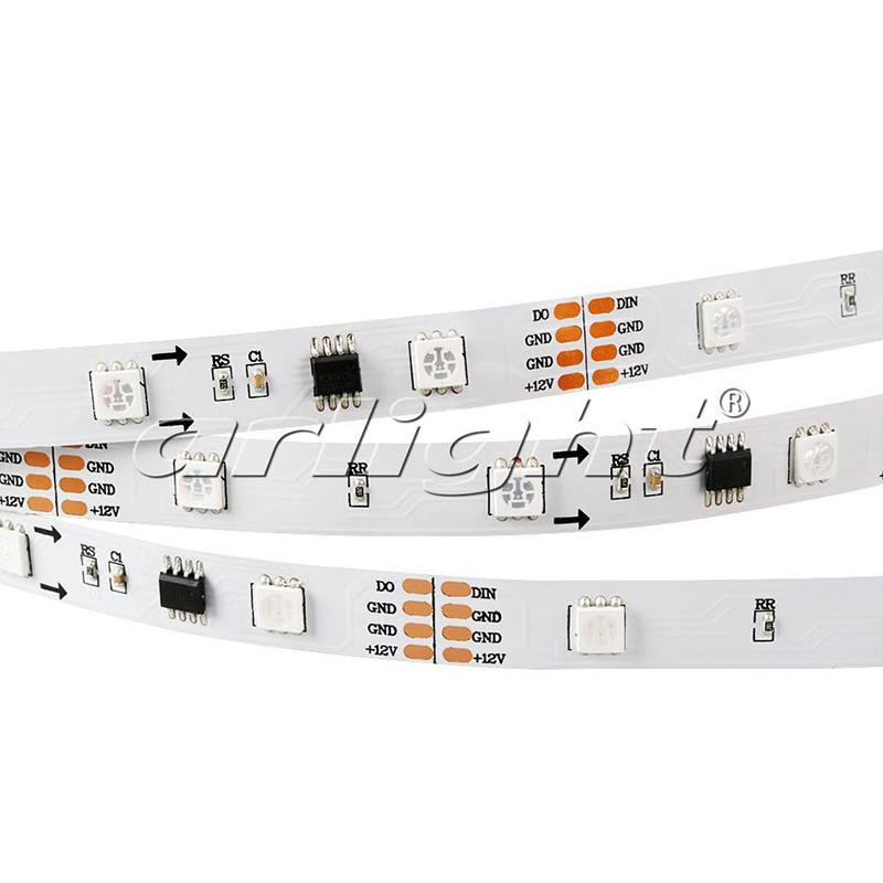 Arlight Лента SPI-5000-IR21B 12V RGB (5060,150 LED x3,1804, ПДУ) лента arlight 021412