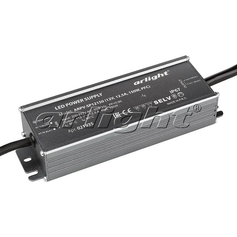 Фото Arlight Блок питания ARPV-SP12150 (12V, 12.5A, 150W, PFC). Купить с доставкой