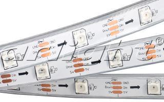 Arlight Лента 5 метров SPI 2-5000P-AM 5V RGB (5060,150 LEDx1, 2812) produino digital 3 axis acceleration of gravity tilt module iic spi transmission for arduino