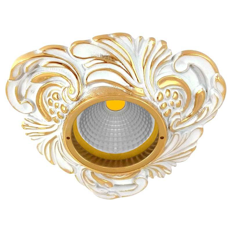 Fede FD1009ROP Треугольный точечный светильник из латуни, золото с белой патиной светильник точечный треугольный коллекция chianti lights fd1009rpb светлый латунь патина матовое стекло fede феде
