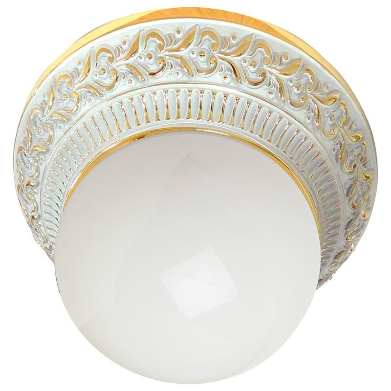 Fede FD1013SOP Накладной точечный светильник из латуни с матовым плафоном, золото с белой патиной roys 3d fd 1013