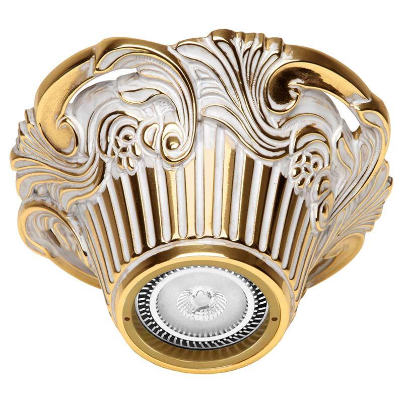 Fede FD1018SOP Накладной точечный светильник из латуни Chianti Surface, золото с белой патиной светильник точечный треугольный коллекция chianti lights fd1009rpb светлый латунь патина матовое стекло fede феде