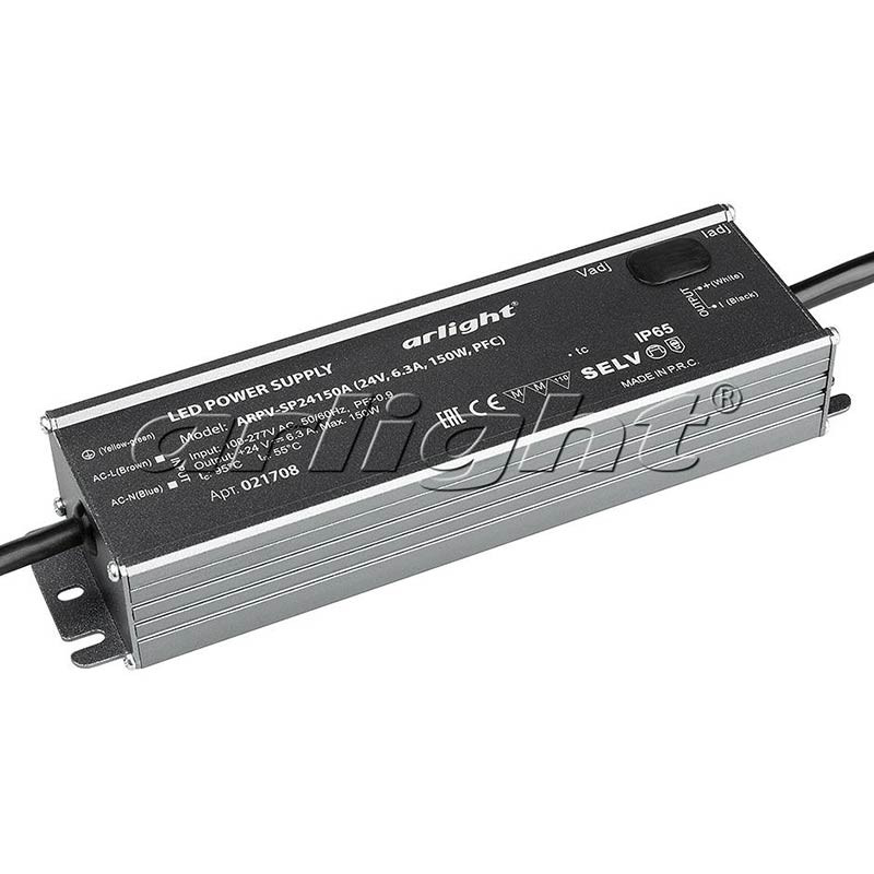 Arlight Блок питания ARPV-SP24150A (24V, 6.3A, 150W, PFC) aaa mean well original sp 320 24 24v 13a meanwell sp 320 24v 312w single output with pfc function power supply