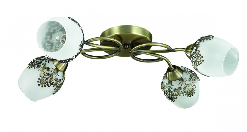 LUMION 3068/4C LN16 121 бронзовый/стекло/метал. декор Люстра потолочная E14 4*40W 220V FILOMENA thule 3068