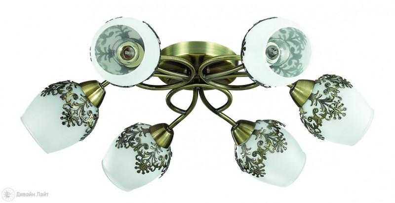 Фото LUMION 3068/6C LN16 121 бронзовый/стекло/метал. декор Люстра потолочная E14 6*40W 220V FILOMENA. Купить с доставкой