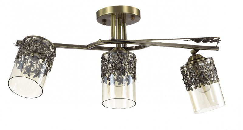 LUMION 3097/3CA LN16 000 бронзовый/стекло/метал.декор Люстра потолочная E14 3*40W 220V MIRELA