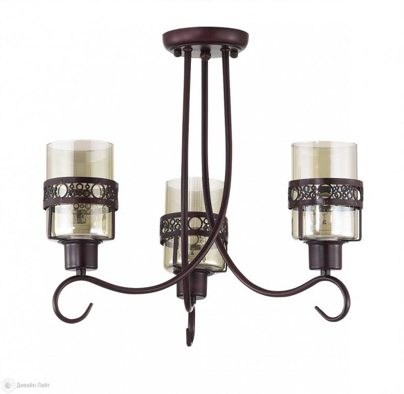 LUMION 3098/3C LN16 000 кофе/стекло/метал. декор Люстра потолочная E27 3*40W 220V VITELIA