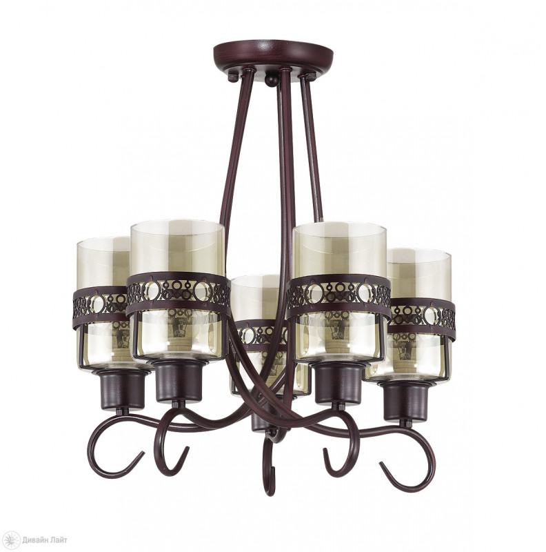 все цены на LUMION 3098/5C LN16 000 кофе/стекло/метал. декор Люстра потолочная E27 5*40W 220V VITELIA онлайн