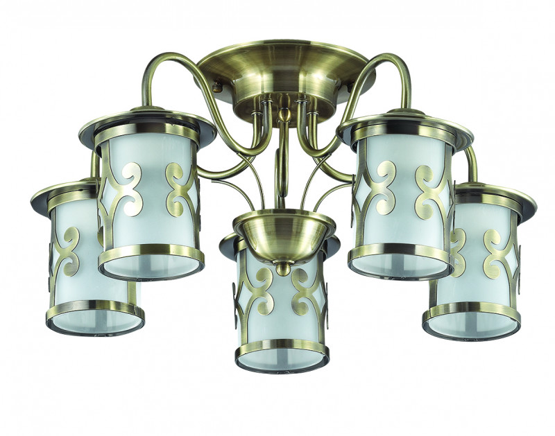 LUMION 3118/5C LN16 000 бронзовый/стекло/метал. декор Люстра потолочная E27 5*40W 220V SEKVANA wenger sport 3118 408