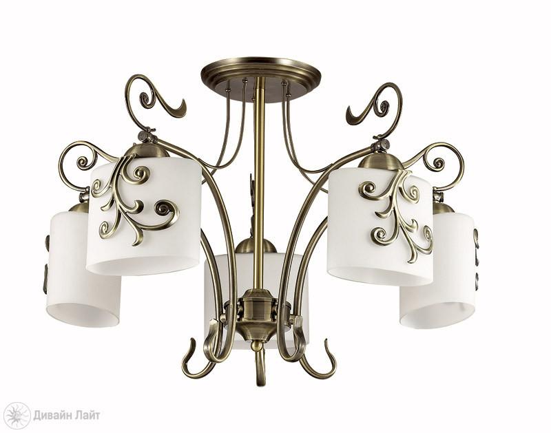LUMION 3140/5C LN16 000 бронзовый/стекло/метал.декор Люстра потолочная E27 5*40W 220V SUSANNA