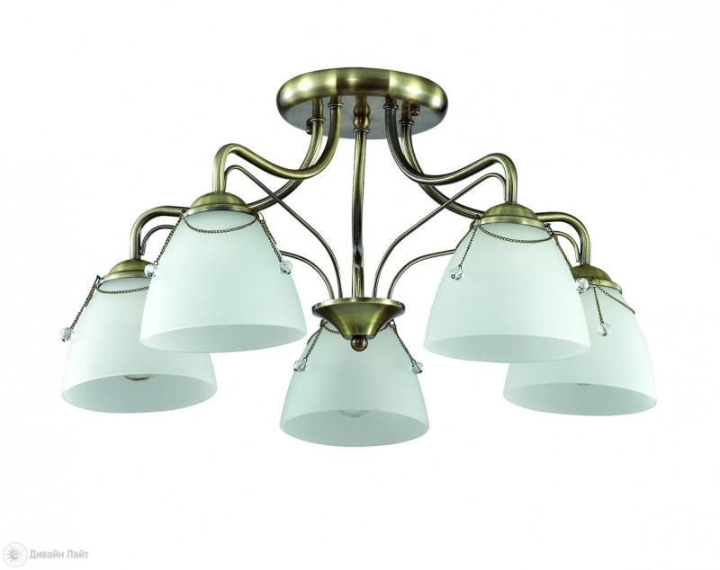 LUMION 3146/5C LN16 000 бронзовый/стекло/декор.цепочки Люстра потолочная E27 5*60W 220V DEBORA