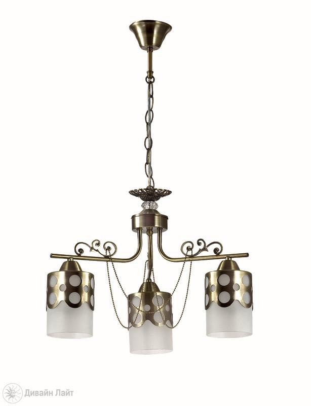 LUMION 3235/3 LN16 000 бронза/стекло/метал.декор/цепочки Люстра E27 3*40W 220V BONINGA