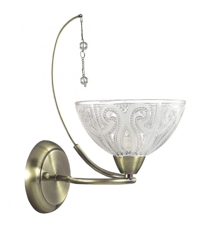 LUMION 3241/1W LN16 000 бронзовый/стекло/хрусталь/цепочки/жемчуг Бра E14 1*60W 220V SELIA