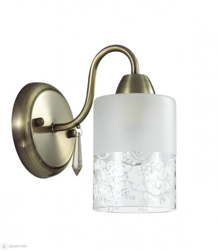 LUMION 3262/1W LN16 000 бронзовый/стекло/хрусталь Бра E14 1*60W 220V IMANI lumion 3262 1w