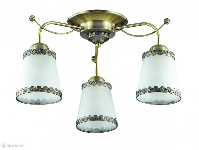 LUMION 3266/3C LN16 000 бронзовый/стекло/метал.декор Люстра потолочная E27 3*60W 220V ABBI