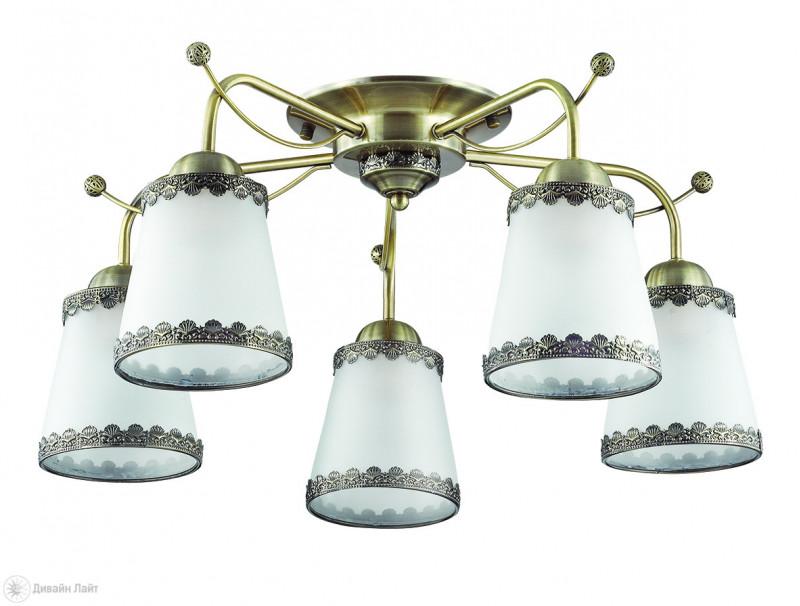 LUMION 3266/5C LN16 000 бронзовый/стекло/метал.декор Люстра потолочная E27 5*60W 220V ABBI потолочная люстра lumion abbi white арт 3267 5c