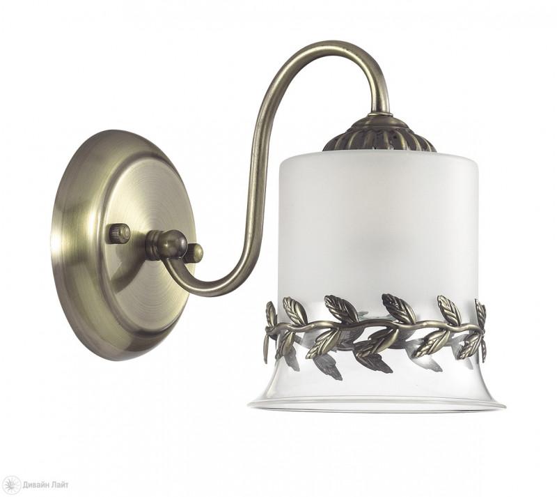 LUMION 3283/1W LN16 000 бронзовый/стекло/метал.декор Бра E27 1*60W 220V PAOLINA бра lumion paolina 3283 1w